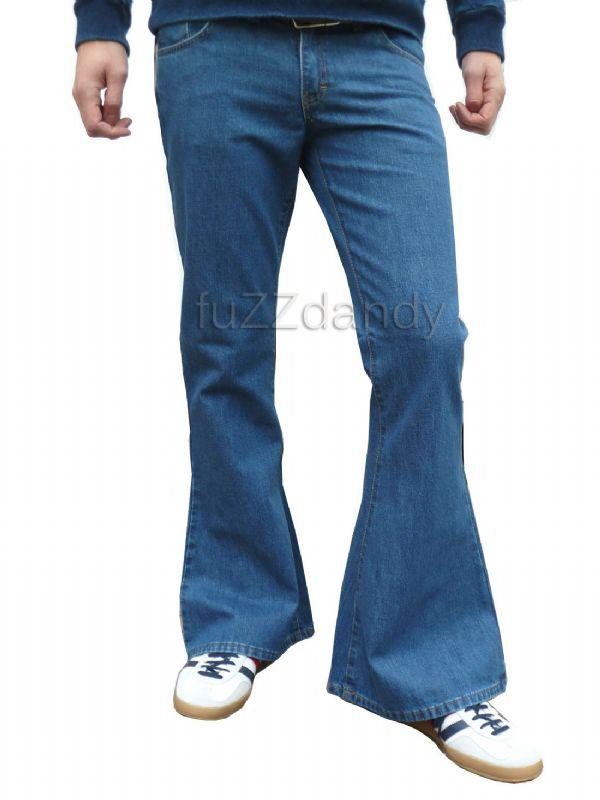 Classic Denim Flare - Denim Bell Bottom Flares (STONEWASH BLUE DENIM)